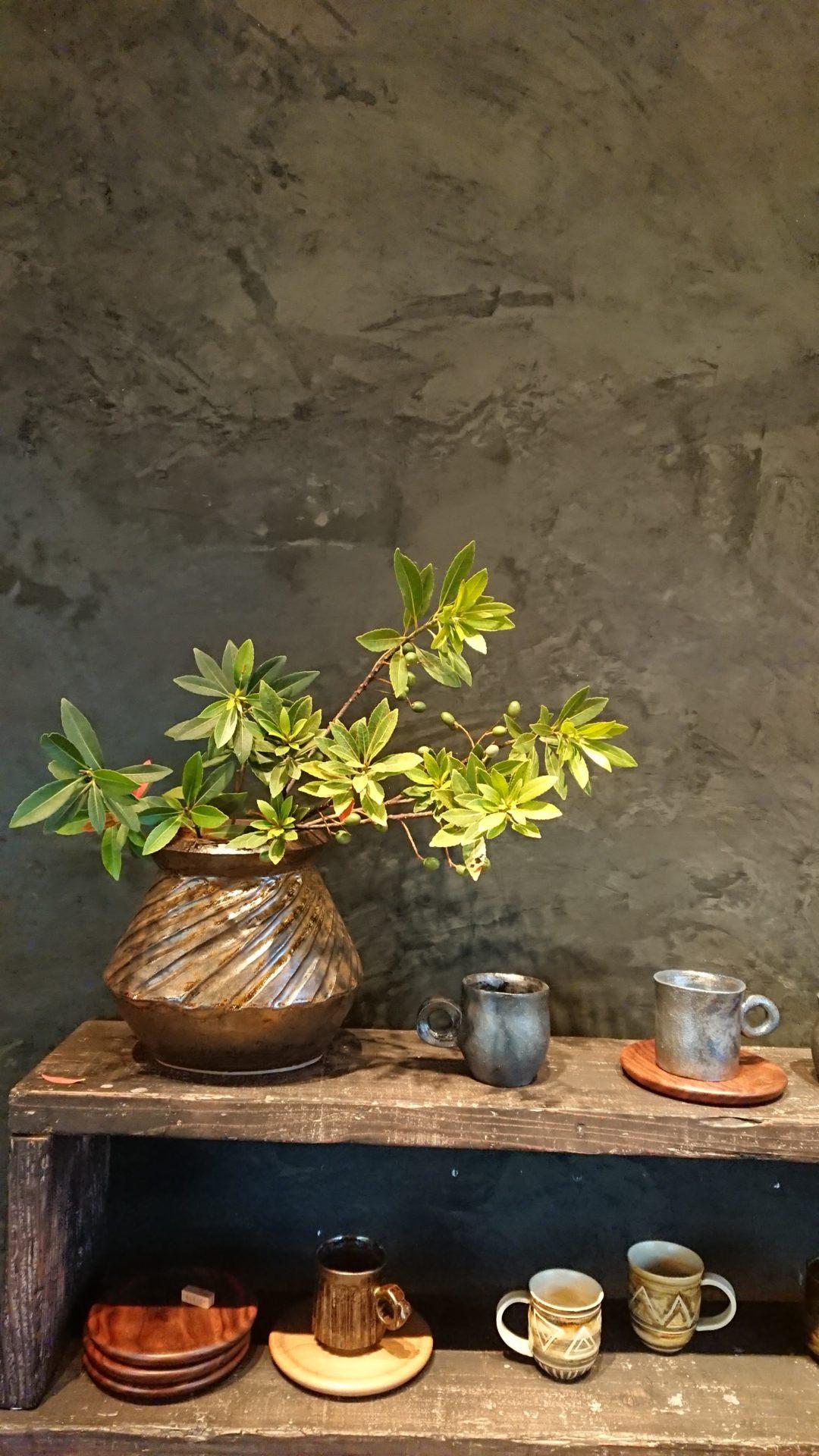 花器(ホルトノキ)